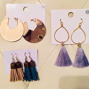 Jewelry - Tassel and Hoop Earrings